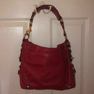 Coach Bag Red Leather